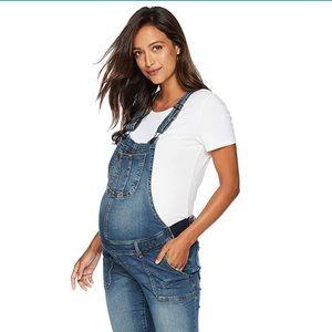 Pants - Never worn maternity overalls distressed denim
